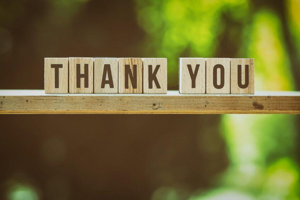 感謝と祝福